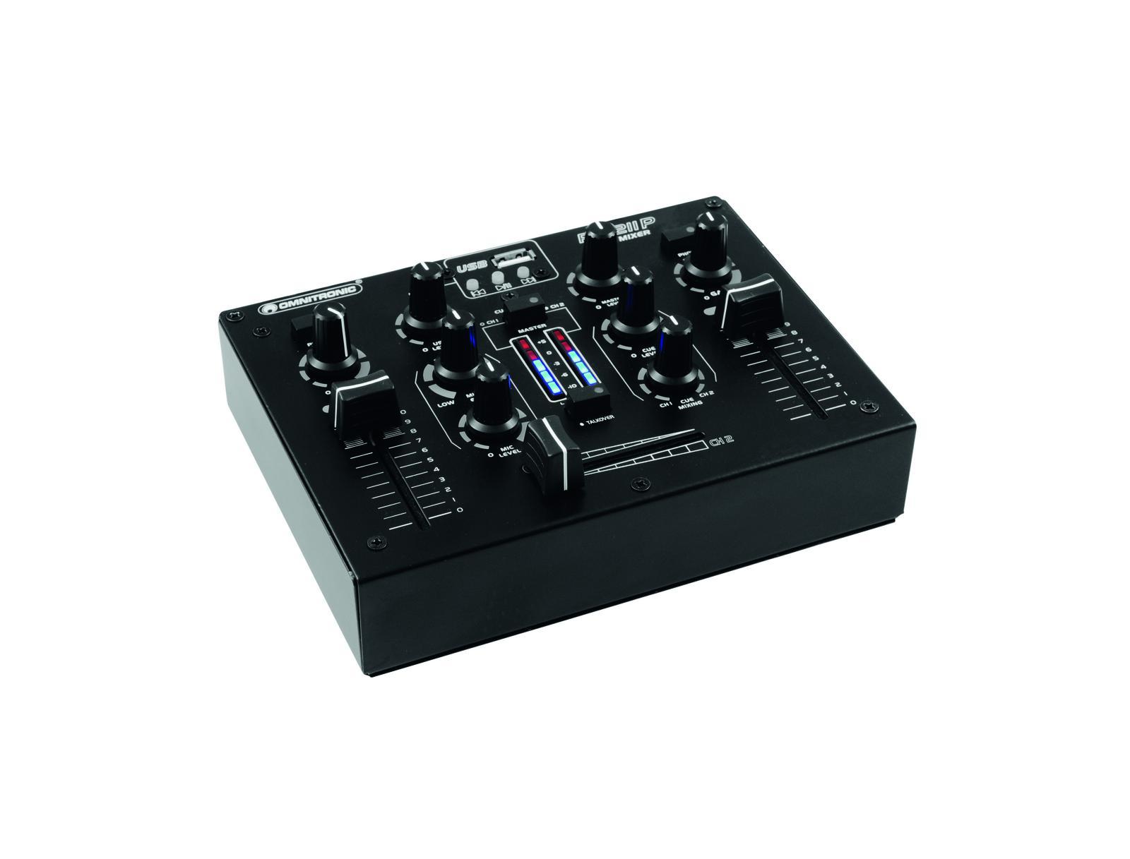 Omnitronic PM-211P, mixážní pult s MP3 přehrávačem