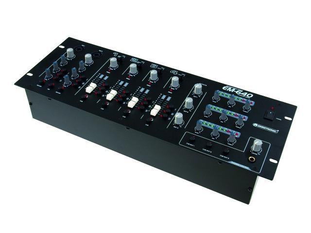 Omnitronic EM-640B, 3-zónový mixážní pult
