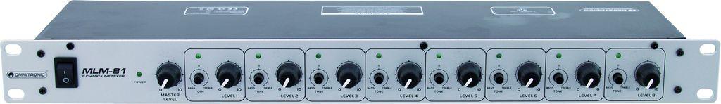 Omnitronic MLM-81, mixážní pult pro 8x mikrofon