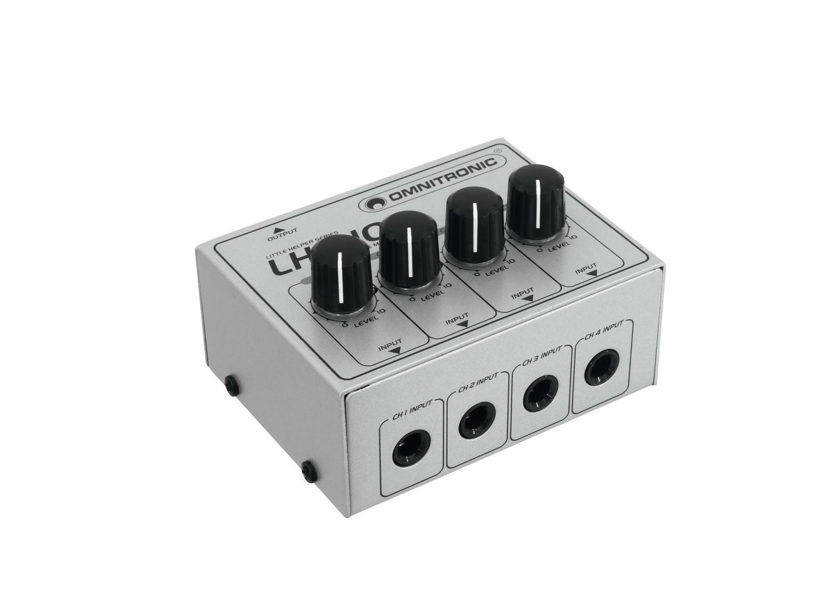 Omnitronic LH-010, mini mixážní pult čtyřkanálový