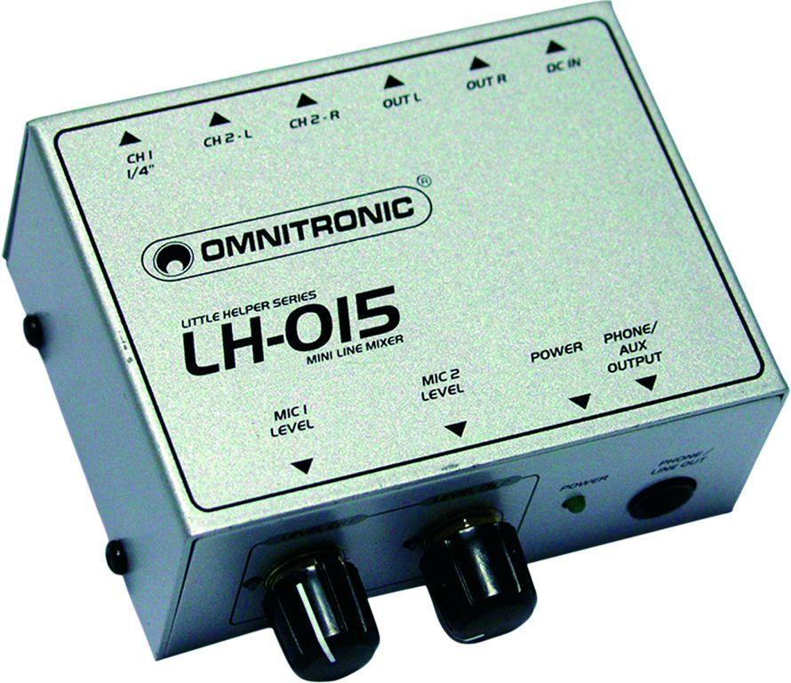 Omnitronic LH-015, mini mixážní pult dvoukanálový