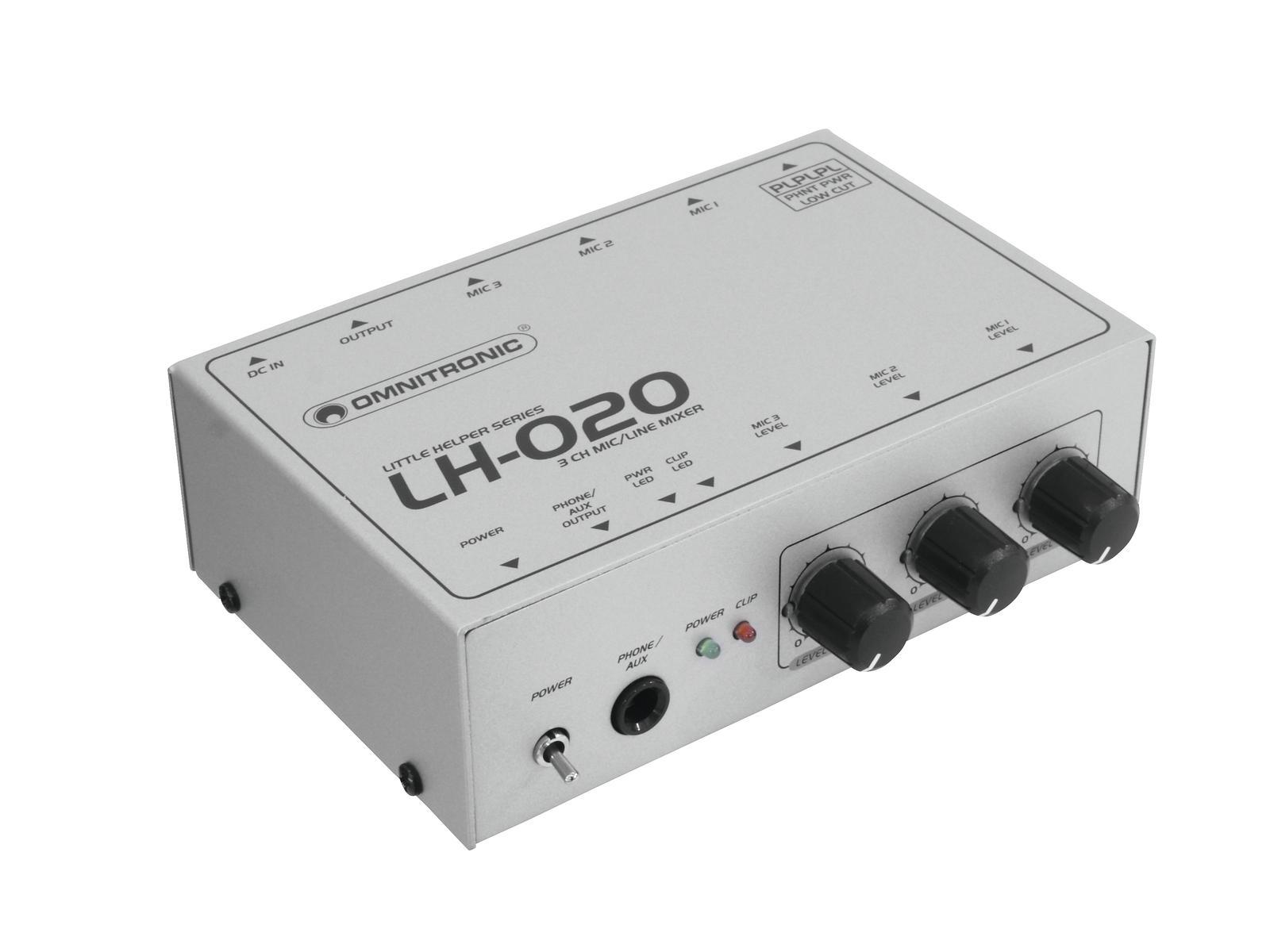 Omnitronic LH-020, mini mixážní pult tříkanálový