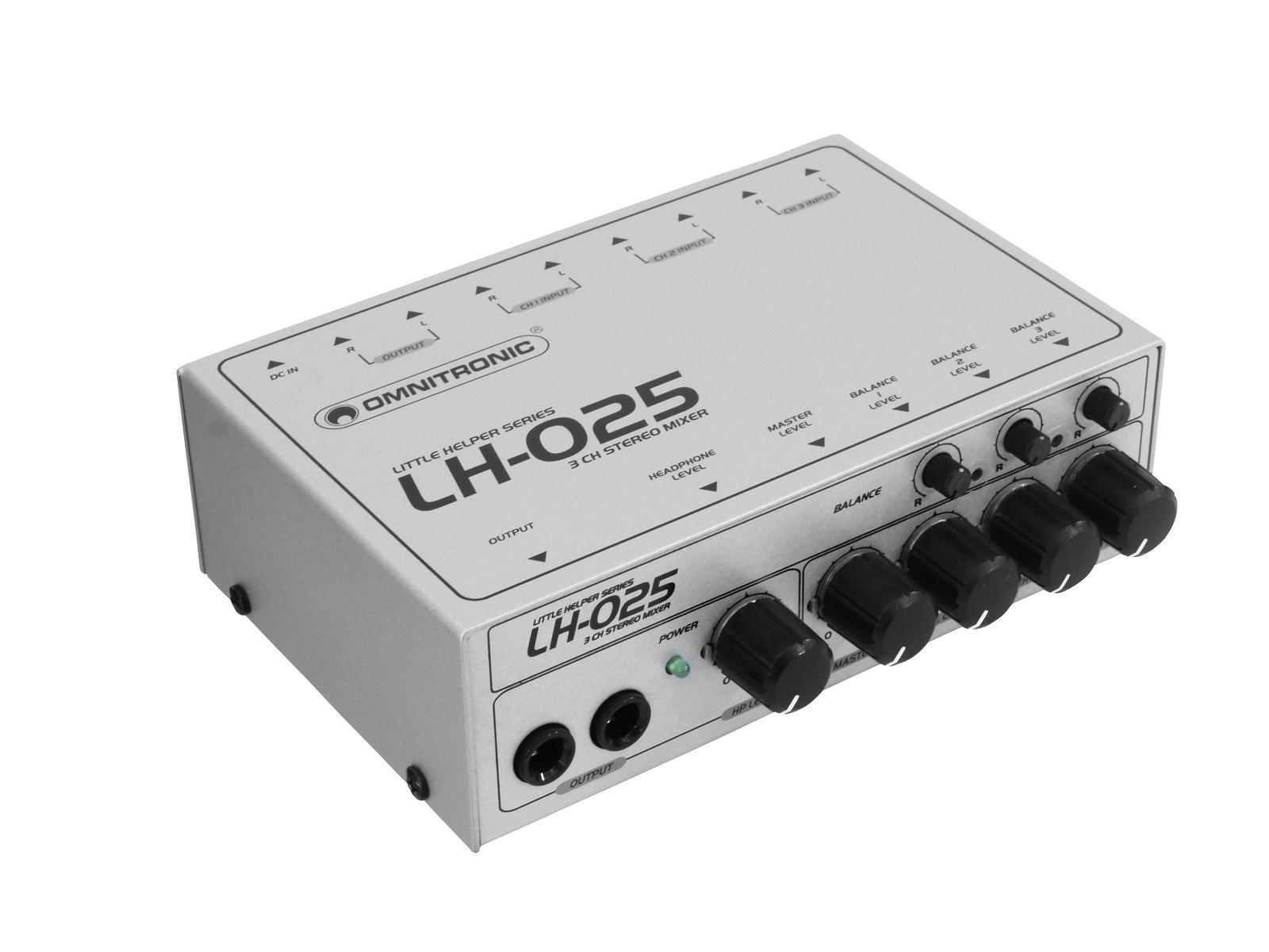 Omnitronic LH-025, mini mixážní pult tříkanálový