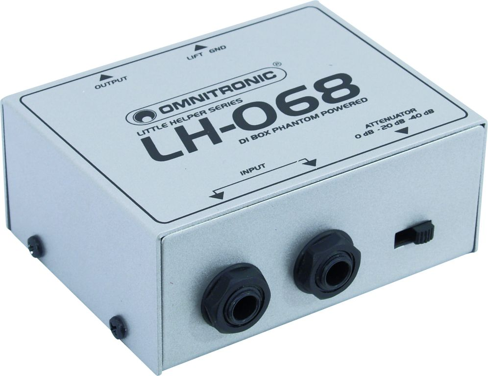 Omnitronic LH-068, DI-box, phantom napájení