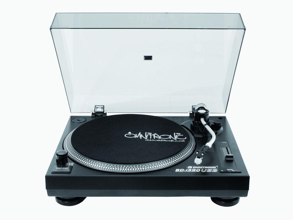 Omnitronic BD-1390 USB, gramofon, černý