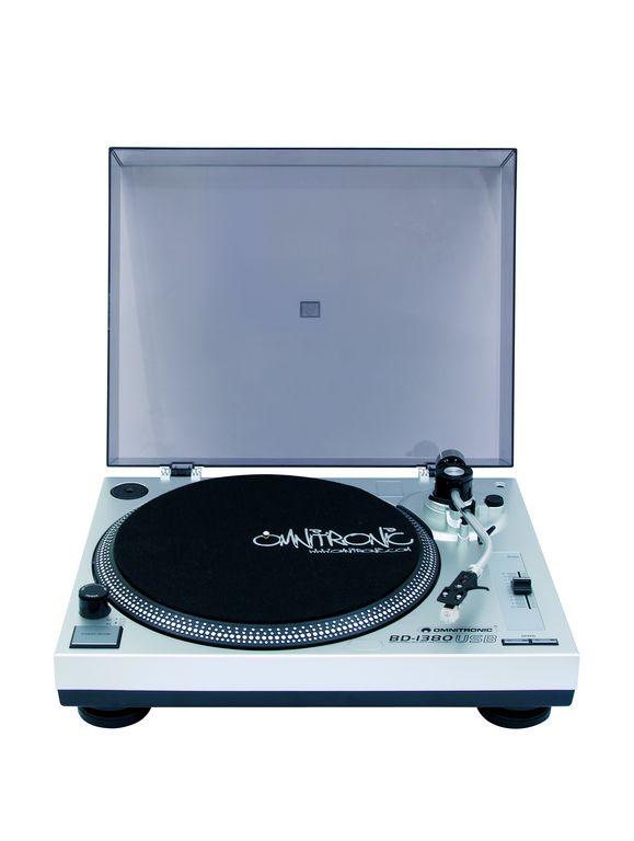 Fotografie Omnitronic BD-1380 USB, gramofon, stříbrný