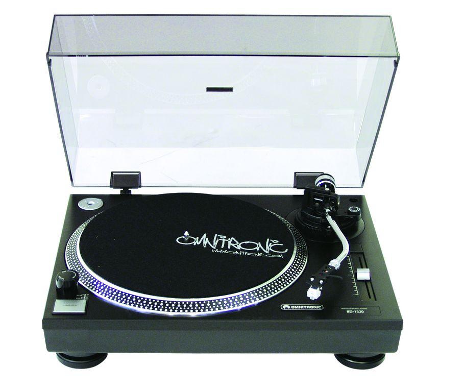 Omnitronic BD-1320, gramofon s řemínkovým pohonem černý