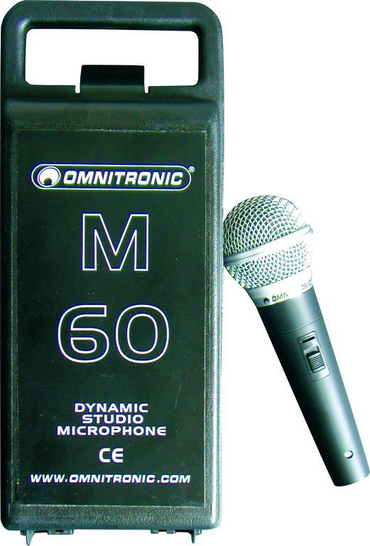 Omnitronic M-60, dynamický mikrofon