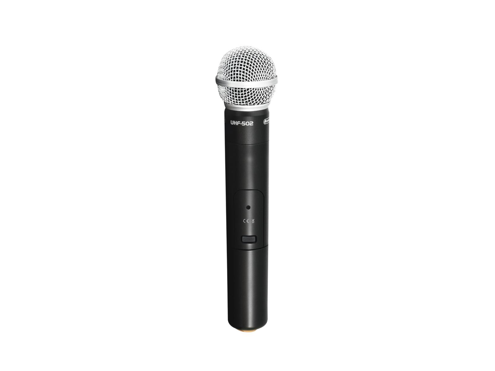 Omnitronic UHF-502, bezdrátový ruční mikrofon (CH B, oranžový)
