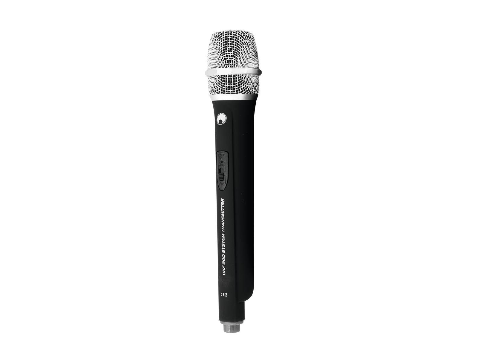 Omnitronic UHF-200, ruční bezdrátový mikrofon 828.250 MHz