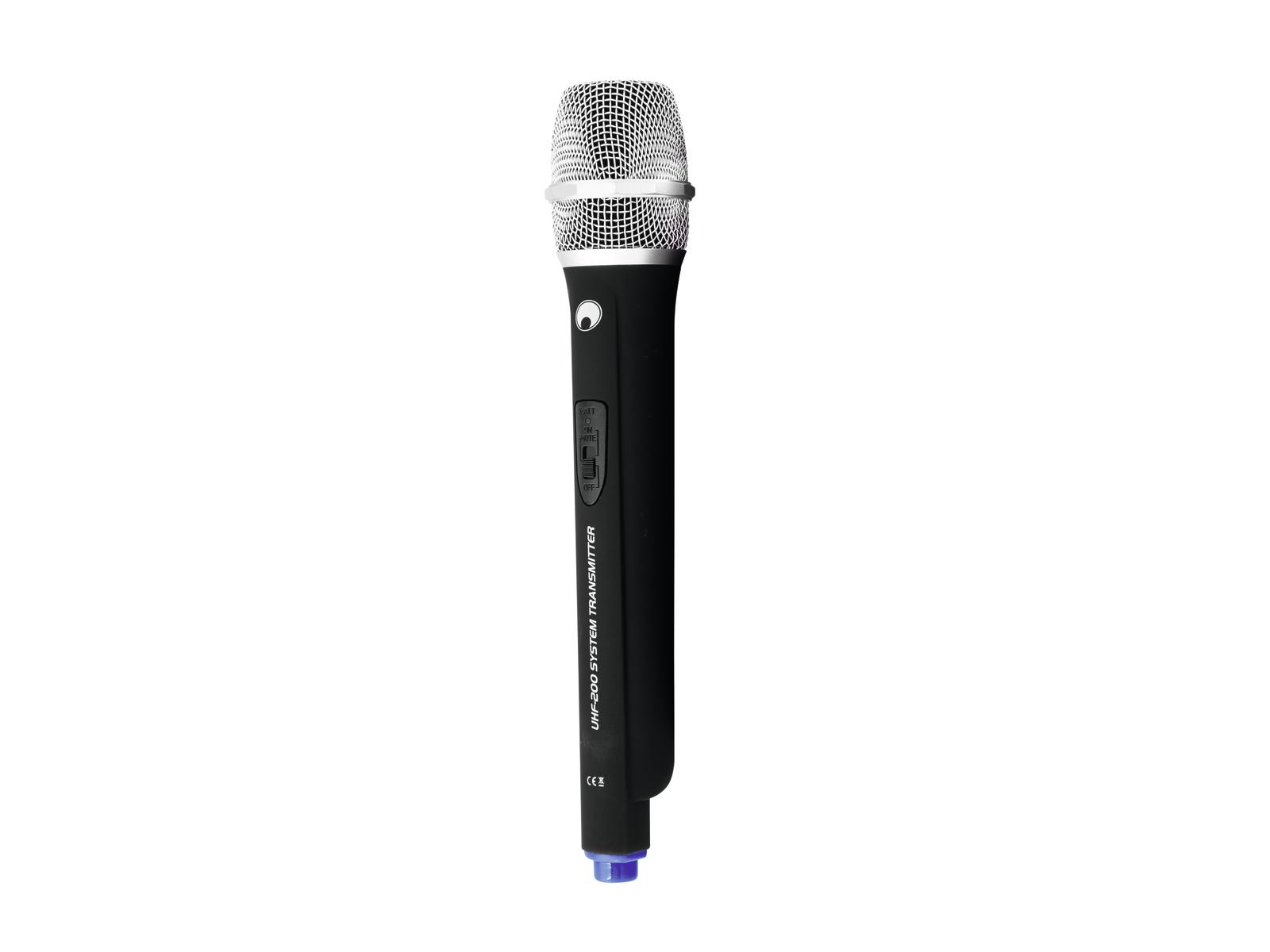 Omnitronic UHF-200, ruční bezdrátový mikrofon 823.100 MHz