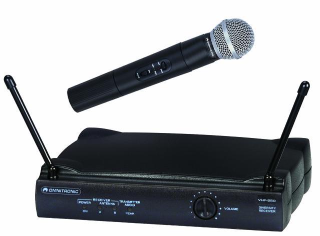 Fotografie Omnitronic VHF-250 214.00 MHz, bezdrátový mikrofonní set VHF
