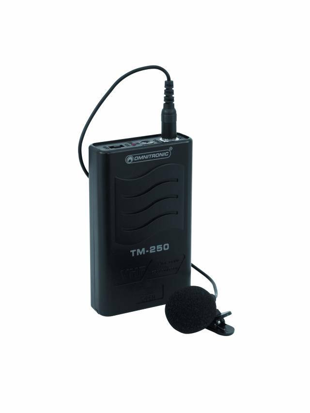 Omnitronic TM-250 VHF 174.100, bezdrátový vysílač + klop.mikrofon