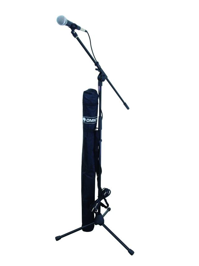 Omnitronic CMK-10, mikrofonní set, stativ, mikrofon, obal + kabel
