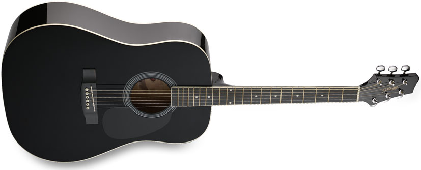 Image of Akustická kytara - Stagg SW201 BK