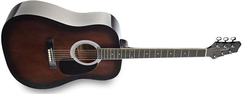 Fotografie Akustická kytara - Stagg SW201BKS