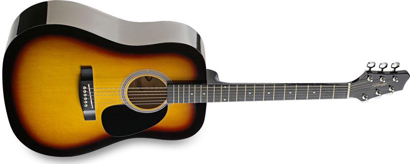 Fotografie Stagg SW201SB, akustická kytara, stínovaná