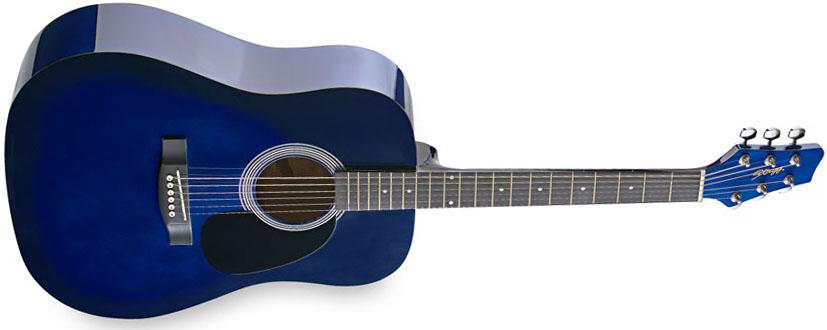 Stagg SW201BLS, akustická kytara, stínovaná modrá