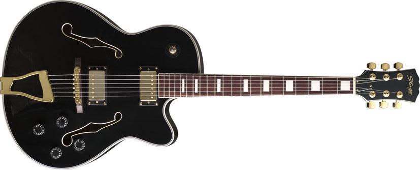 Fotografie Stagg A300-BK, semiakustická kytara, černá
