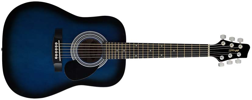 Dětská akustická kytara - Stagg SW201 1/2 BLS