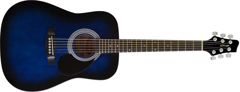 Dětská akustická kytara - Stagg SW201 3/4 BLS