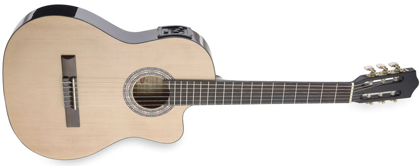 Fotografie Klasická elektro-ak. kytara - Stagg C546TCE-N