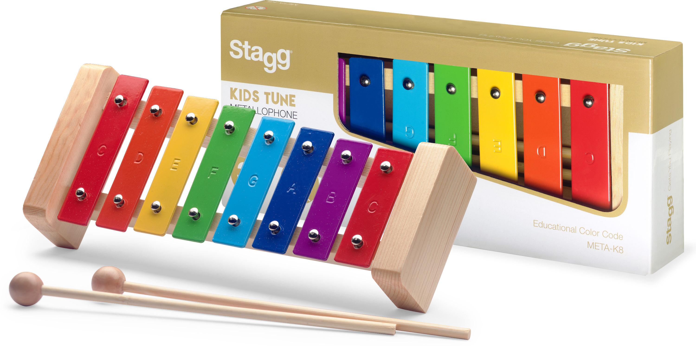 Stagg META-K8, barevná zvonkohra
