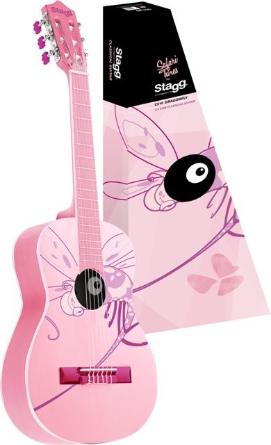 Fotografie Stagg C505 DRAGONFLY, kytara klasická 1/4, motiv vážky