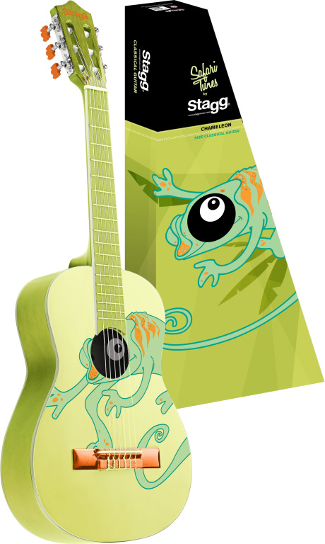Stagg C510 CHAMELEON, kytara klasická 1/2, motiv chameleona