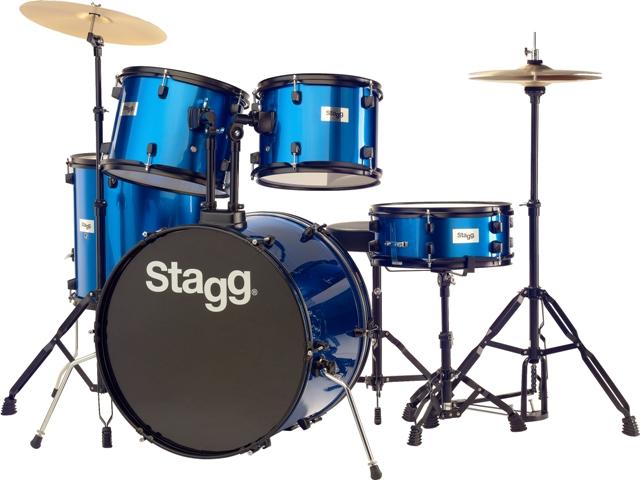 Fotografie Bicí sada Stagg Stagg TIM122B BL, bicí sada, modrá