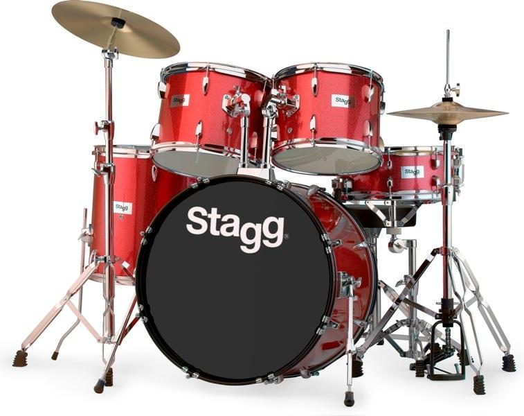 Stagg TIM322B SPRD, bicí sada, červená perleť