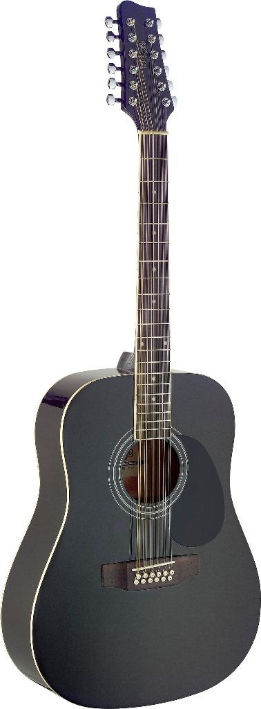 Stagg SA40D/12-BK, 12-ti strunná akustická kytara