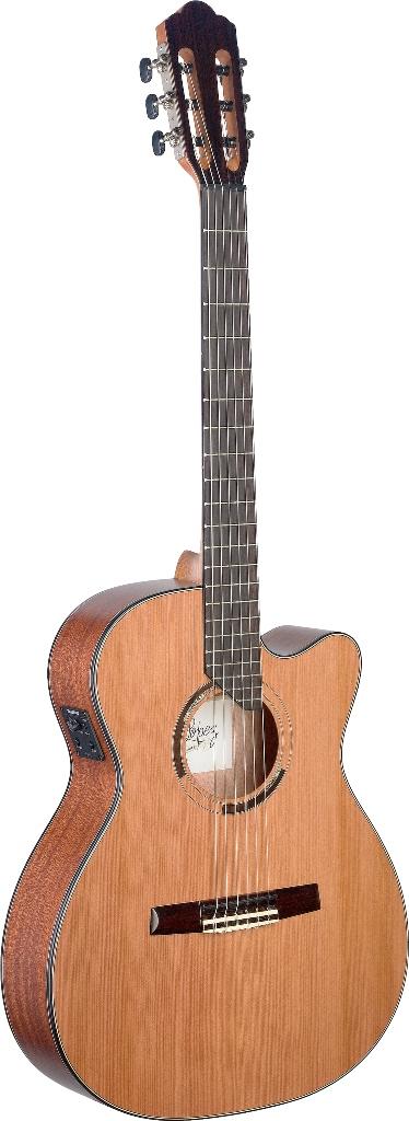 Fotografie Angel Lopez ERE HYB-CFI S, elektroakustická kytara