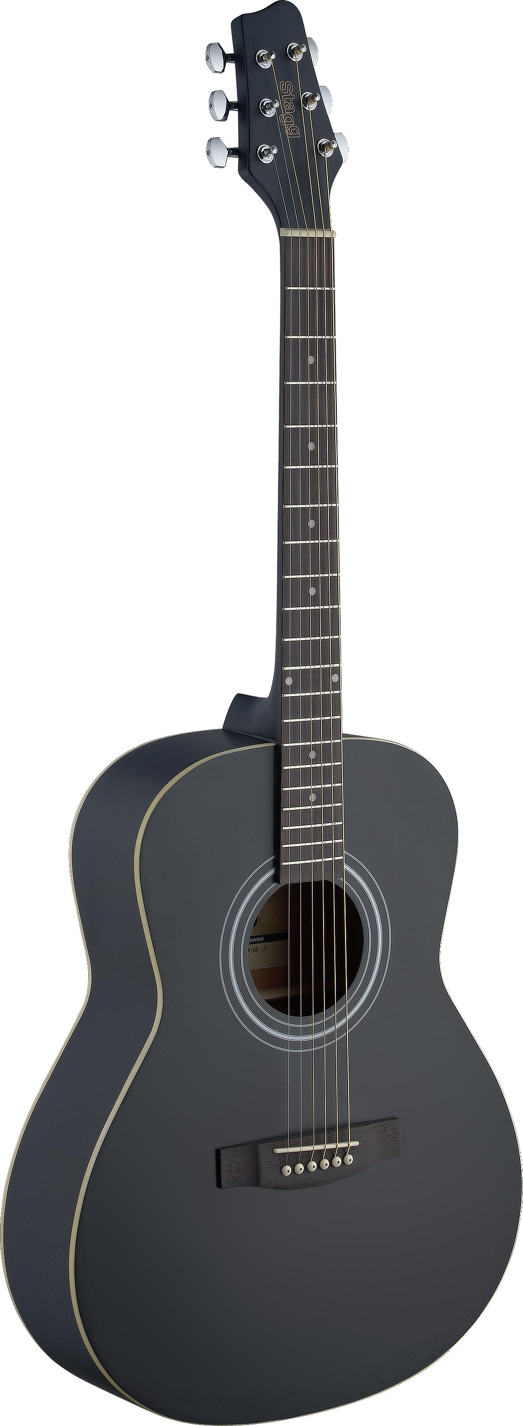 Stagg SA30A-BK LH, akustická kytara, levoruká
