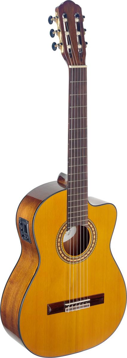 Fotografie Angel Lopez SIL-CE HG, klasická elektroakustická kytara