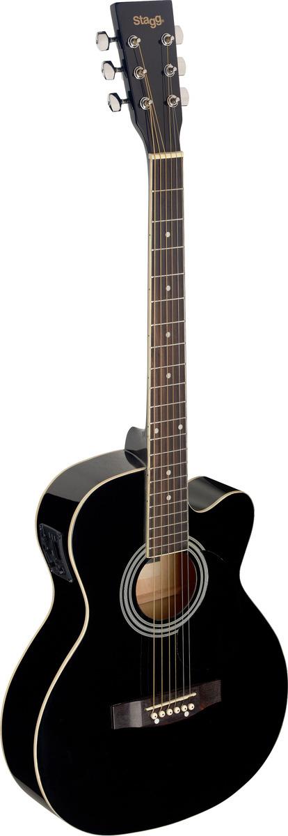 Fotografie Stagg SA20ACE-BLK, elektroakustická kytara