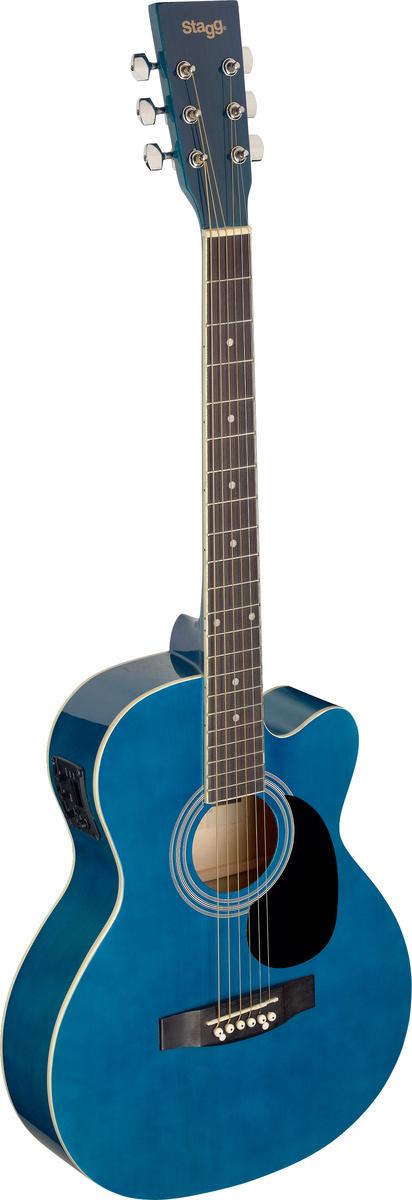 Fotografie Stagg SA20ACE-BLUE, elektroakustická kytara