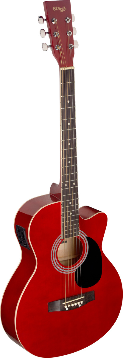 Fotografie Stagg SA20ACE-RED, elektroakustická kytara