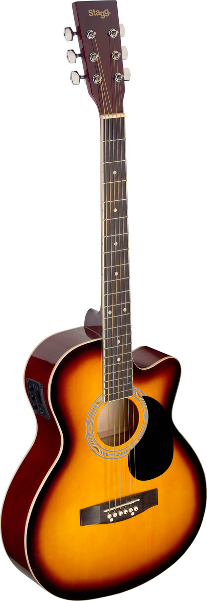 Fotografie Stagg SA20ACE-SNB, elektroakustická kytara