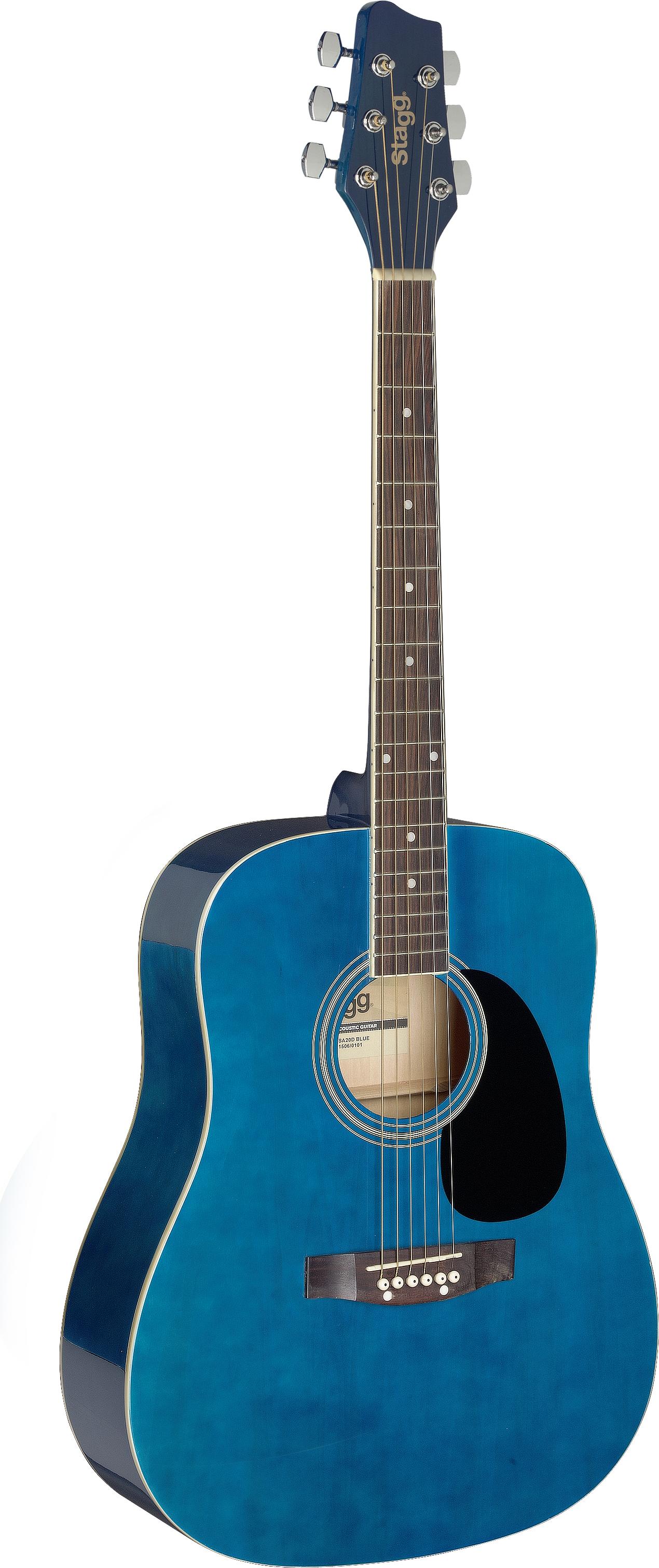 Stagg SA20D BLUE, akustická kytara