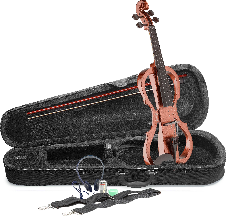 Stagg EVN X-4/4 VBR, elektrické housle, hnědé
