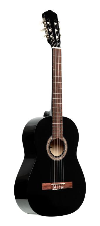 Stagg SCL50 BLK PACK, klasická kytara 4/4 s pouzdrem a ladičkou, černá