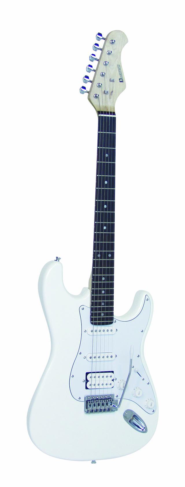 Fotografie Dimavery ST-312 elektrická kytara, bílý