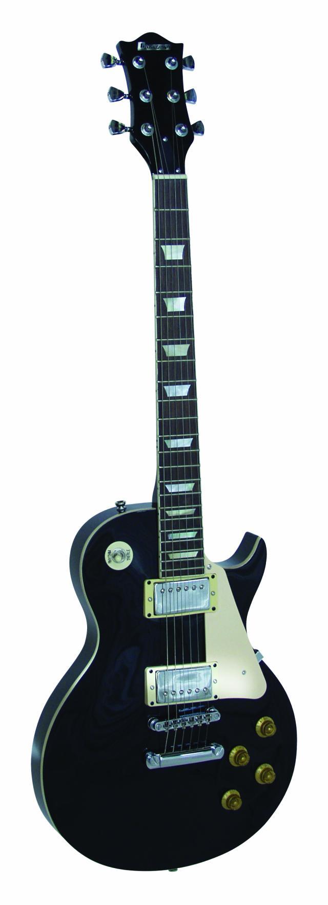 Dimavery LP-520, elektrická kytara, černá