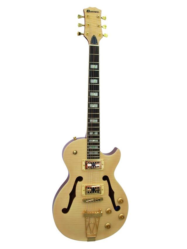 Fotografie Dimavery LP-600 elektrická kytara, přírodní javor
