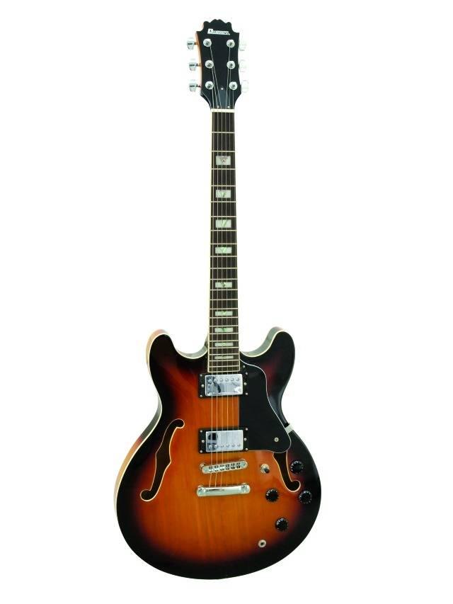 Fotografie Dimavery SA-610 jazzová kytara, vintage sunburst