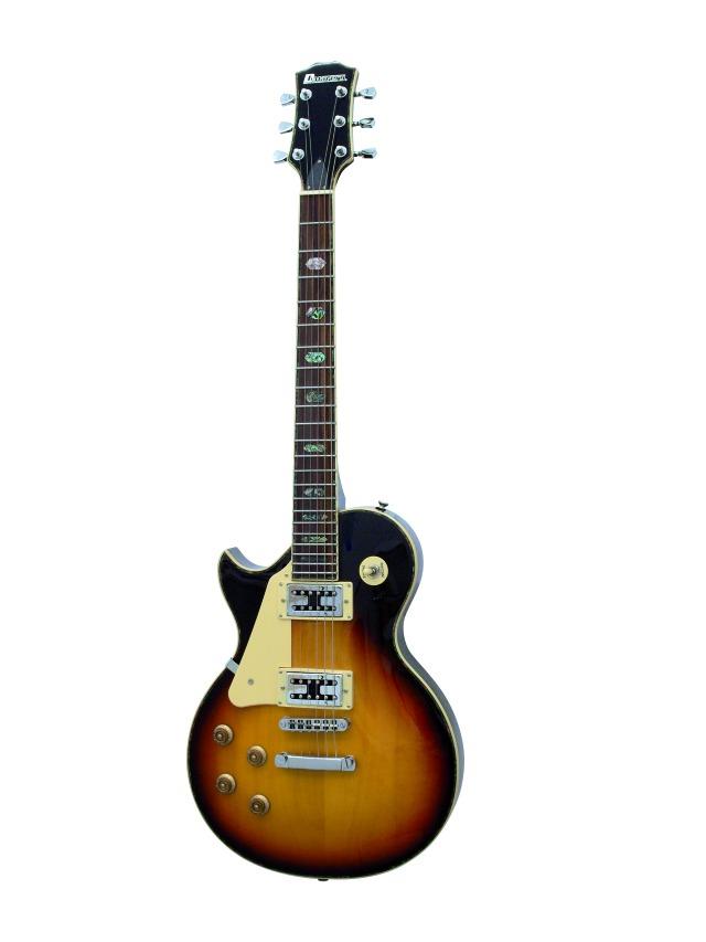 Fotografie Dimavery LP-700L elektrická kytara, sunburst, pro leváky