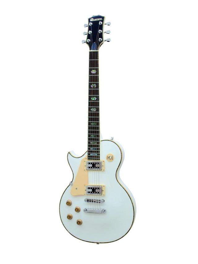 Fotografie Dimavery LP-700L elektrická kytara, bílá, pro leváky