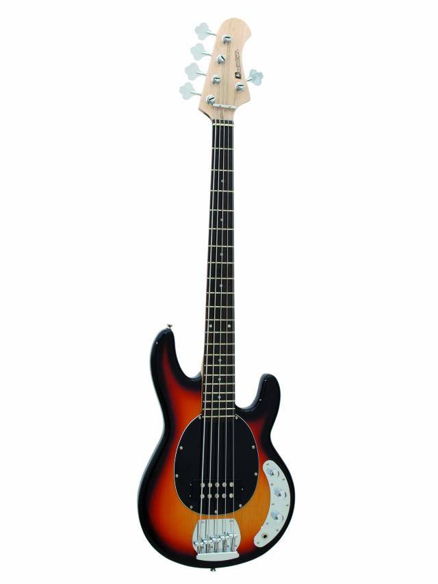 Dimavery MM-501 elektrická pětistrunná baskytara, sunburst