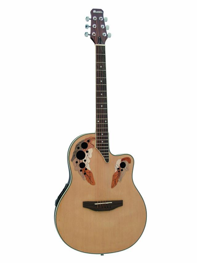 Fotografie Dimavery OV-500 elektro-akustická kytara Ovation, přírodní